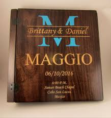 engraved photo albums personalized colored monogram wedding photo album 3 ring
