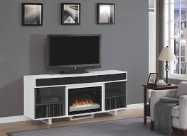 decorating white target bookshelves with electric fireplace