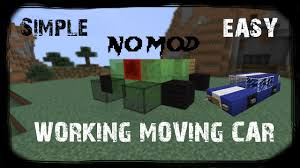 minecraft car how to make a working car in minecraft youtube gaming