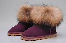 ugg boots canada sale ugg fox fur mini boots 5854 purple uggyi00000034 purple ca