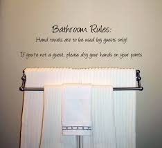 Cute Bathroom Decor by Humorous Bathroom Rules Wall Decal Trading Phrases Bathroom Decor