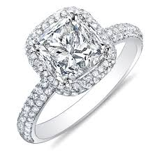princess cut engagement rings with halo 3 06 ct princess cut micro pave halo engagement