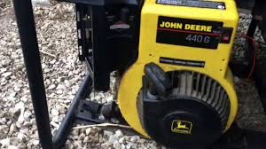fixing an old john deere 440g generator youtube