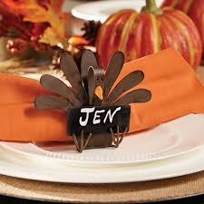 turkey napkin ring metal turkey placecard holder and napkin ring