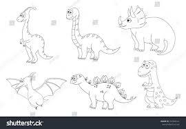 coloring page preschool children set different stock vector