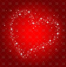 st valentine u0027s day card outline of heart with starry border