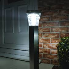 Solar Lamp Post Lights Outdoor by Solar 13 Led Path Security Lamp Post Light Outdoor Garden With Pir
