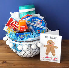 healthy gift baskets healthy gift basket with free printable card artsy