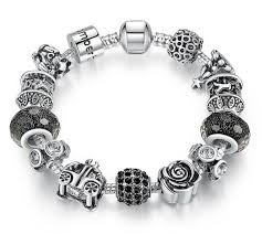pandora bracelet murano beads images 925 silver retro beads rose car black ball murano beads fit jpg