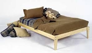 queen size solid wood platform bed frame clean unfinished