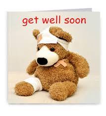 get well soon teddy get well soon card teddy ebay