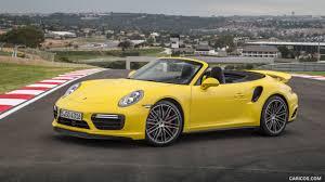 Porsche 911 Yellow - 2016 porsche 911 turbo cabriolet color racing yellow side