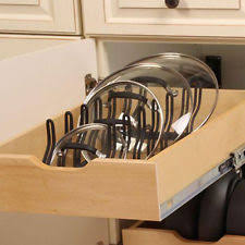 Cabinet Pan Organizer Kitchen Pot Pan Lid Holder Cabinet Pull Out Drawer Organizer Cover