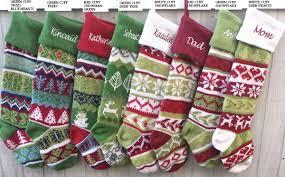 fair isle knitted christmas stockings