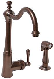 rubbed kitchen faucet lead free single handle kitchen faucet with matching side spray