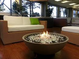 Glass Fire Pit Table Patio Round Fire Pit Table Near The Pool With Glass Beads Ideas