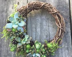 succulent wreath etsy your place to buy and sell all things handmade