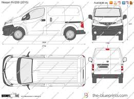 nissan nv200 the blueprints com vector drawing nissan nv200