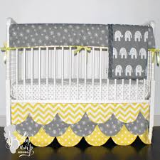 yellow u0026 gray gender neutral baby crib bedding
