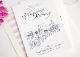 wedding invitations jacksonville fl skyline save the date cards