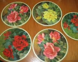 Shabby Chic Placemats by Cork Back Placemats Etsy