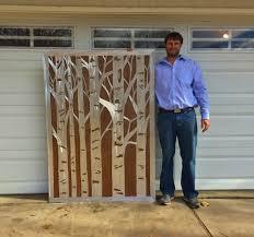 large metal wall art aspen trees rustic home decor nature