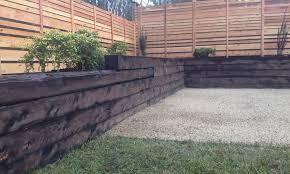 installing landscape timbers retaining wall u2014 home design ideas