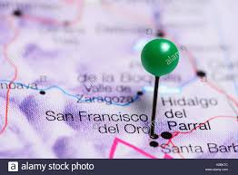 San Francisco On A Map by San Francisco Del Oro Pinned On A Map Of Mexico Stock Photo