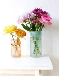 small square vases colorful etched vases with flower puns and sayings