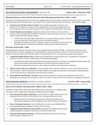 cfo resume exles the top 4 executive resume exles written by a professional