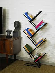 Free Bookshelves Furnitures Black Modern Angled Free Standing Bookshelf Near Mid