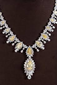 yellow diamond necklace images Magnificent yellow diamond necklace for sale at 1stdibs jpg