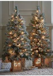 ideas pre lit entryway trees lighting with