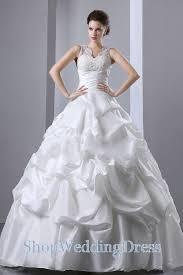 Ball Gown Wedding Dresses Uk Layered Floor Length V Neck Taffeta Ball Gown Wedding Dress On