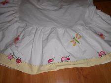 Pottery Barn Ruffle Crib Skirt Bugs U0026 Insects Crib 100 Cotton Nursery Bedding Ebay