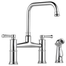 brizo faucets kitchen bridge faucet with side sprayer 62525lf pc artesso kitchen