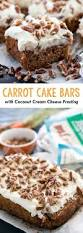 carrot cake bars with coconut cream cheese frosting recipe