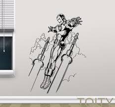 online get cheap dorm room decor men aliexpress com alibaba group avengers superheroes wall sticker iron man vinyl decal movie poster teen room dorm club bar creative art decor removable mural