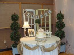 decoration diy wedding photo display with flower and white table