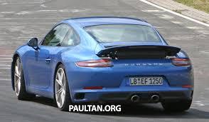 porsche 911 facelift spied 2016 porsche 911 facelift all turbo line up image 360148
