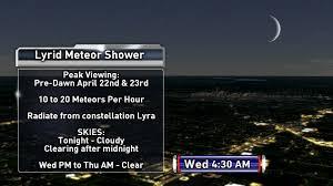 lyrid meteor shower lyrid meteor shower visible tonight whotv com