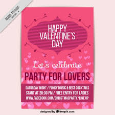 valentines flyer template great flyer template for s day vector free