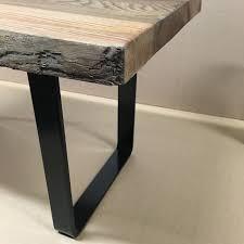 flat steel metal bench legs 40cm 16inch 2 pieces
