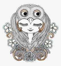 imagen blanco y negro en illustrator blanco y negro owl girl illustrator blanco y negro owl chica