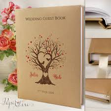 wedding guestbook personalised wedding guest book grey recycling craft style with