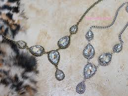 prom necklace vintage silver big diamonds prom necklace lindiess