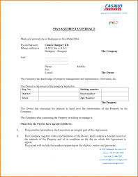 contract property management contract template