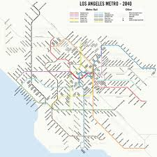Boston Metro Map by Map Shows Future Of La Mass Transit Business Insider
