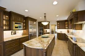 long island kitchen cabinets enthralling seamless granite countertop kitchen island in dark