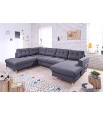 canapé grande assise canapé grand angle gauche scandinave convertible tissu gris foncé